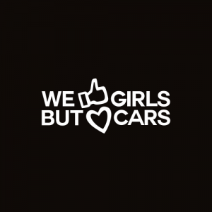 Sticker We love cars Monocrom