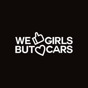 Sticker We love cars Monocrom