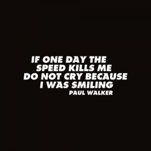 Sticker Paul Walker Monocrom