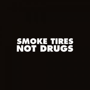 Sticker Smoke Tires Monocrom
