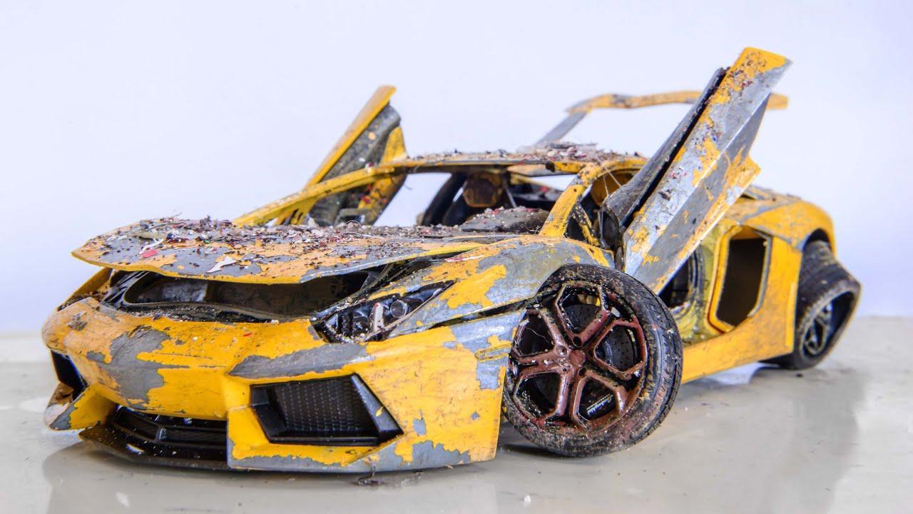 Restaurare Macheta Auto Lamborghini Aventador